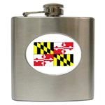 Maryland State Flag - Hip Flask (6 oz)
