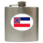Mississippi State Flag - Hip Flask (6 oz)