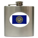 Nebraska State Flag - Hip Flask (6 oz)