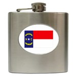 North Carolina State Flag - Hip Flask (6 oz)