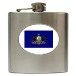 Pennsylvania State Flag Hip Flask (6 oz)