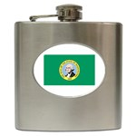 Washington State Flag - Hip Flask (6 oz)