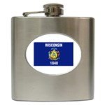 Wisconsin State Flag Hip Flask (6 oz)