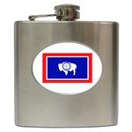Wyoming State Flag - Hip Flask (6 oz)