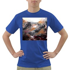 Natural Abstract Landscape Dark T Shirt by timelessartoncanvas