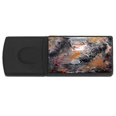 Natural Abstract Landscape Usb Flash Drive Rectangular (4 Gb)  by timelessartoncanvas