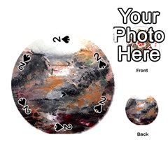 Natural Abstract Landscape Playing Cards 54 (round)