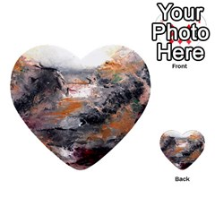 Natural Abstract Landscape Multi Purpose Cards (heart)