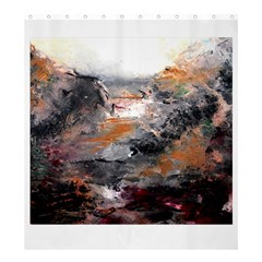 Natural Abstract Landscape Shower Curtain 66  X 72  (large)  by timelessartoncanvas