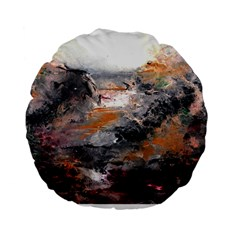 Natural Abstract Landscape Standard 15  Premium Flano Round Cushions by timelessartoncanvas