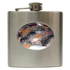 Natural Abstract Landscape No  2 Hip Flask (6 Oz) by timelessartoncanvas