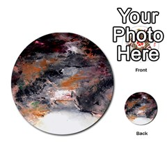 Natural Abstract Landscape No  2 Multi Purpose Cards (round)