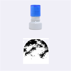 Natural Abstract Landscape No. 2 Rubber Round Stamps (Small) by timelessartoncanvas