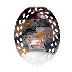 Natural Abstract Landscape No  2 Ornament (oval Filigree)  by timelessartoncanvas