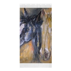2 Horses Shower Curtain 36  X 72  (stall)