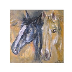 2 Horses Small Satin Scarf (square)