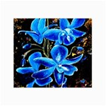 Bright Blue Abstract Flowers Collage 12  x 18  18 x12 Print - 2