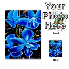 Bright Blue Abstract Flowers Multi Purpose Cards (rectangle)  by timelessartoncanvas