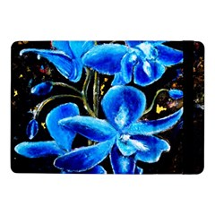 Bright Blue Abstract Flowers Samsung Galaxy Tab Pro 10 1  Flip Case by timelessartoncanvas
