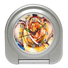 Abstract Rose Travel Alarm Clocks by timelessartoncanvas