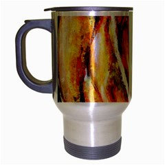 Abstract Rose Travel Mug (silver Gray) by timelessartoncanvas