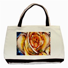 Abstract Rose Basic Tote Bag (two Sides)  by timelessartoncanvas