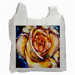 Abstract Rose Recycle Bag (one Side) by timelessartoncanvas