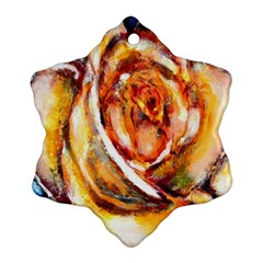 Abstract Rose Snowflake Ornament (2 Side) by timelessartoncanvas