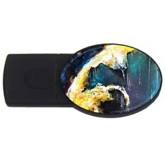 Abstract Space Nebula Usb Flash Drive Oval (4 Gb)  by timelessartoncanvas