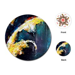 Abstract Space Nebula Playing Cards (Round)