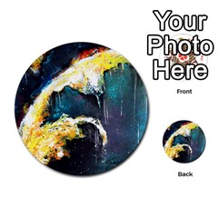 Abstract Space Nebula Multi Purpose Cards (round)  by timelessartoncanvas