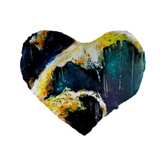 Abstract Space Nebula Standard 16  Premium Heart Shape Cushions by timelessartoncanvas