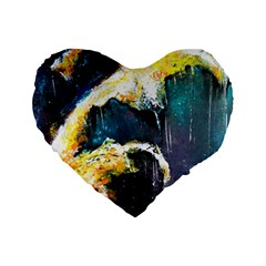 Abstract Space Nebula Standard 16  Premium Flano Heart Shape Cushions by timelessartoncanvas