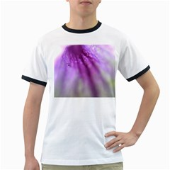 Purple Flower Pedal Ringer T Shirts by timelessartoncanvas