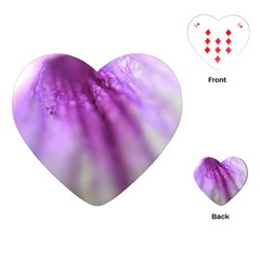 Purple Flower Pedal Playing Cards (heart)  by timelessartoncanvas