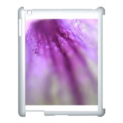 Purple Flower Pedal Apple Ipad 3/4 Case (white) by timelessartoncanvas