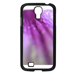 Purple Flower Pedal Samsung Galaxy S4 I9500/ I9505 Case (black) by timelessartoncanvas