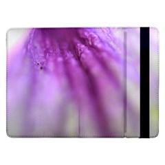 Purple Flower Pedal Samsung Galaxy Tab Pro 12 2  Flip Case by timelessartoncanvas