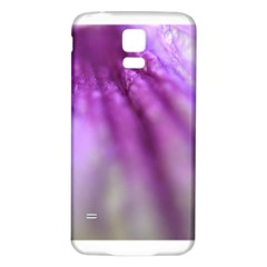 Purple Flower Pedal Samsung Galaxy S5 Back Case (white) by timelessartoncanvas