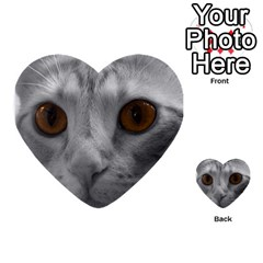 Funny Cat Multi Purpose Cards (heart)
