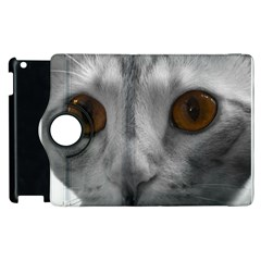 Funny Cat Apple Ipad 3/4 Flip 360 Case by timelessartoncanvas