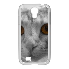 Funny Cat Samsung Galaxy S4 I9500/ I9505 Case (white)