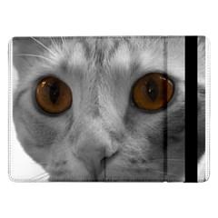Funny Cat Samsung Galaxy Tab Pro 12 2  Flip Case by timelessartoncanvas