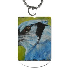Blue Jay Dog Tag (two Sides) by timelessartoncanvas