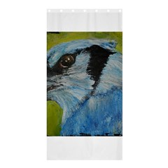 Blue Jay Shower Curtain 36  X 72  (stall)  by timelessartoncanvas