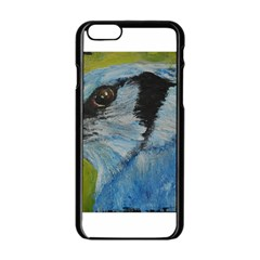 Blue Jay Apple Iphone 6 Black Enamel Case by timelessartoncanvas