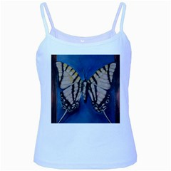 Butterfly Baby Blue Spaghetti Tanks by timelessartoncanvas