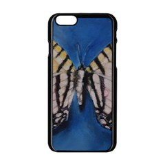 Butterfly Apple Iphone 6 Black Enamel Case by timelessartoncanvas