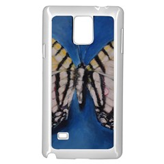 Butterfly Samsung Galaxy Note 4 Case (white) by timelessartoncanvas