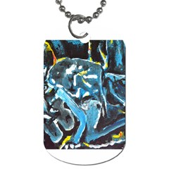 Man And Woman Dog Tag (two Sides) by timelessartoncanvas